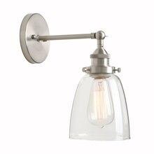 Permo винтажная настенная лампа прозрачный стеклянный абажур