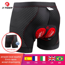 X-tiger ciclismo shorts atualizar 5d gel almofada ciclismo roupa interior pro à prova de choque ciclismo underpant bicicleta shorts roupa interior