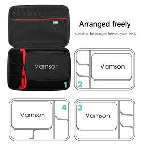 Image 4 - Vamson for Go pro Accessories Kits Bag for Gopro Hero 8 Black 7 6 5 Waterproof Case PU for DJI Yi Hard Shell Storage box VP808