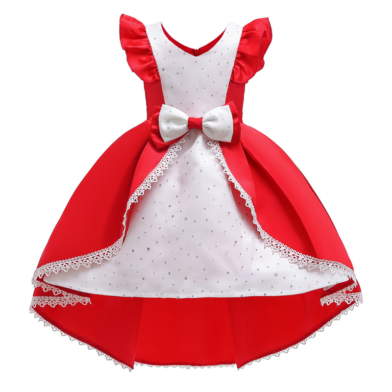 Crianças vestidos de natal para meninas elegante vestido de princesa flor meninas vestido de casamento crianças vestido de festa à noite infantil