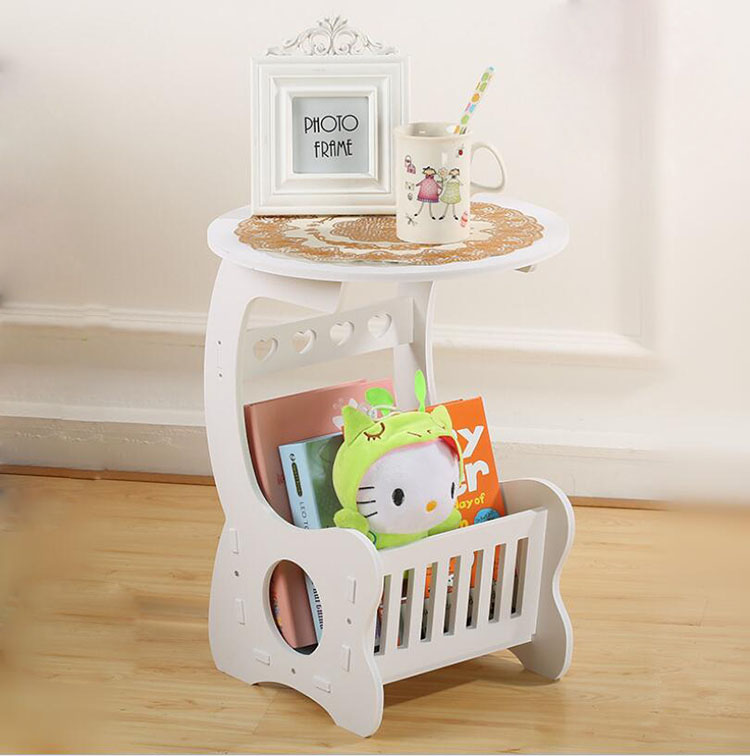 Multifunction Wooden Coffee Table Coffee Tea Desk with Storage Shelf Rack for Book Magazine for Living Room