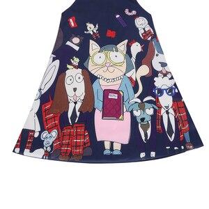 Image 3 - Meninas vestido de natal dos desenhos animados vestidos impressos para meninas papai noel vestido impresso roupas de natal vestidos 9011