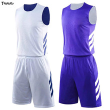 цена на DIY Double-side Basketball Jerseys Reversible basketball jersey throwback jerseys sports Sets Uniforms college kits rose Youth