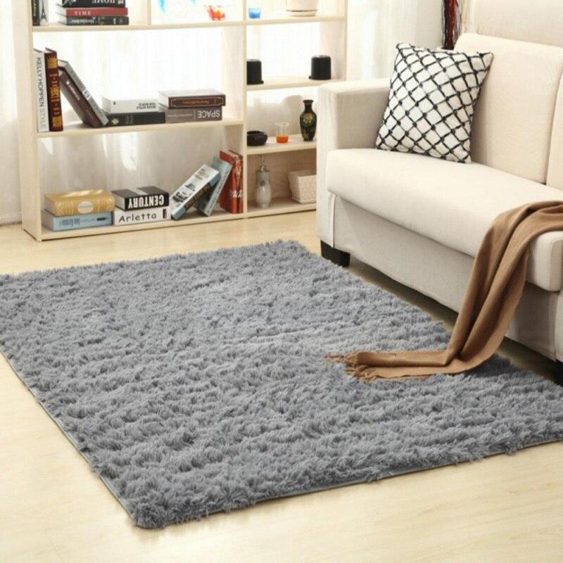Super doux soie laine tapis intérieur moderne Shag zone tapis soyeux tapis chambre tapis de sol bébé pépinière tapis enfants tapis