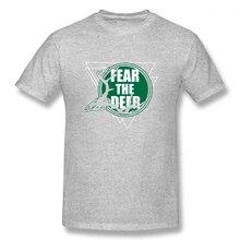 2019 funny tee cute t shirts I Fear The Deer Slogan men short sleeves cotton tops cool shirt summer Mens T-Shirt