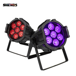 4Pcs 7X18W Rgbwa + Uv 6in1 Aluminium Led Par DMX512 Wassen Dj Stage Light Disco party Licht Dj Verlichting Professionele Verlichting