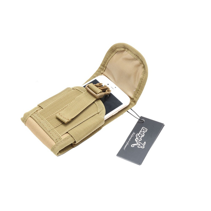 Outdoor Camouflage Tactical Utility Water-Resistant MOLLE Bag Mobile Phone Pocket Phone Pouch Belt Waist Cover