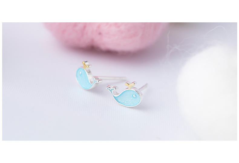 H7c3119f7b93440258b4a1d1fe64061ffp - Stud Earrings for Women with 925 Sterling Silver Earrings Dolphin Light Blue Jewelry Accessories Wholesale