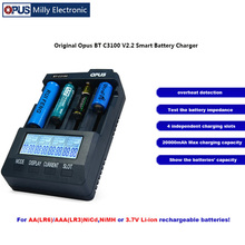 Original Opus BT C3100 V2.2 Smart Battery Charger 4 LCD Slot
