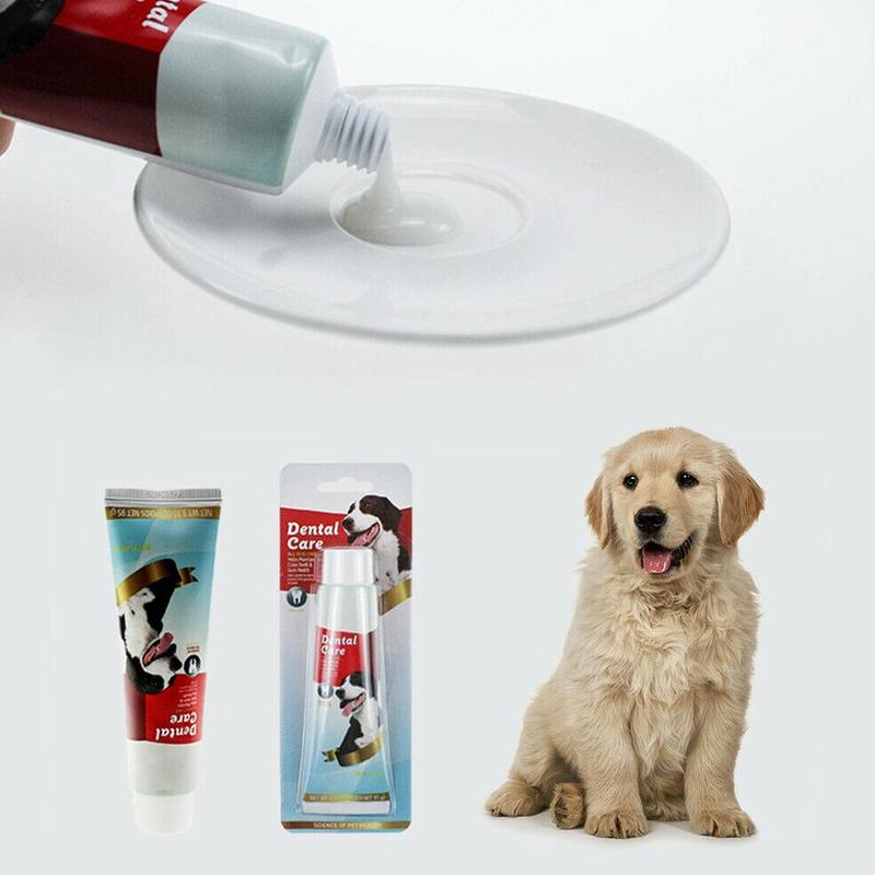 Dog Oral Dental Mouthwash Edible Toothpaste 95g Pet Products Dog Teeth Cleaning Pets Toothbrush Teeth Care Supplies image