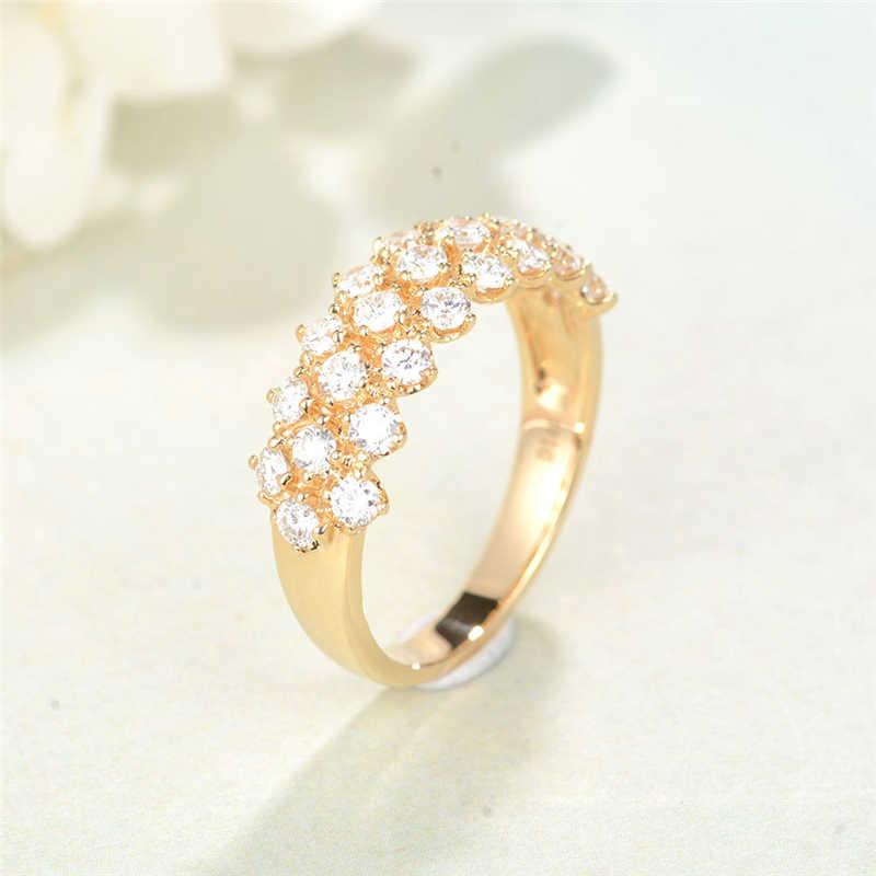 Flor Popular oro 14K anillo de diamante de lujo anillo de compromiso peridoto Bizuteria Topacio 925 Anillos de joyería Anillos piedras preciosas