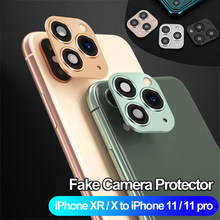 Mode Nep Camera Lens Back Protector Cover Camera Cover Glas Sticker Film Voor Iphone X Xs Max Veranderen Naar Iphone 11 Pro Max(China)