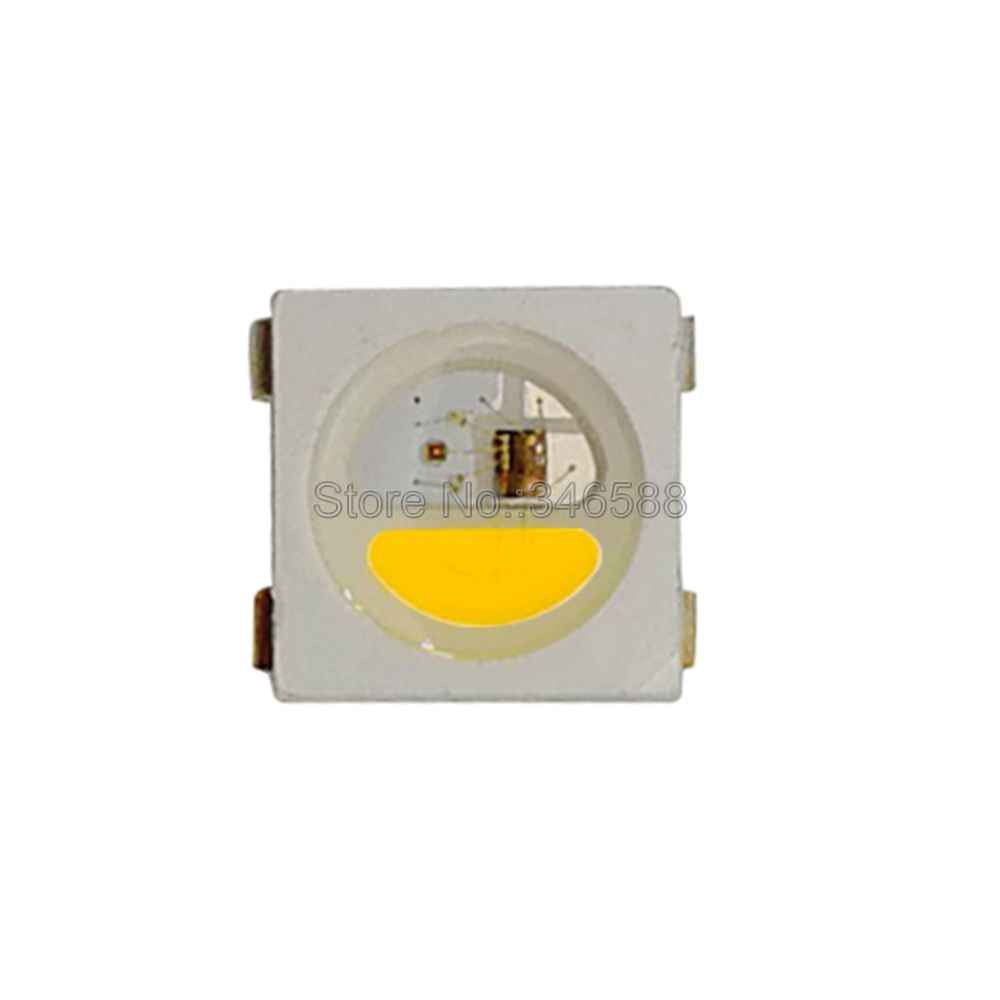 10-1000 adet WS2812B RGB led çip 5050 SMD siyah/beyaz PCB SK6812 RGBCW RGBNW RGBWW ayrı ayrı adreslenebilir çip piksel 5V
