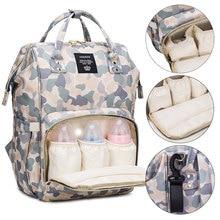 Bolsa de pañales para bebés de camuflaje, mochila de viaje de maternidad de gran capacidad, bolsa de lactancia para el cuidado del bebé, bolsa húmeda para cochecito, bolsas de pañales