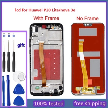 5.84 2280x1080 IPS Display For HUAWEI P20 Lite LCD Touch Screen Replacement with Frame Original LCD P20 Lite ane-lx3 nova 3e for huawei p20 lite ane lx1 ane lx3 lcd display touch screen digitizer assembly replacement for p20lite nova 3e 5 84 screen par