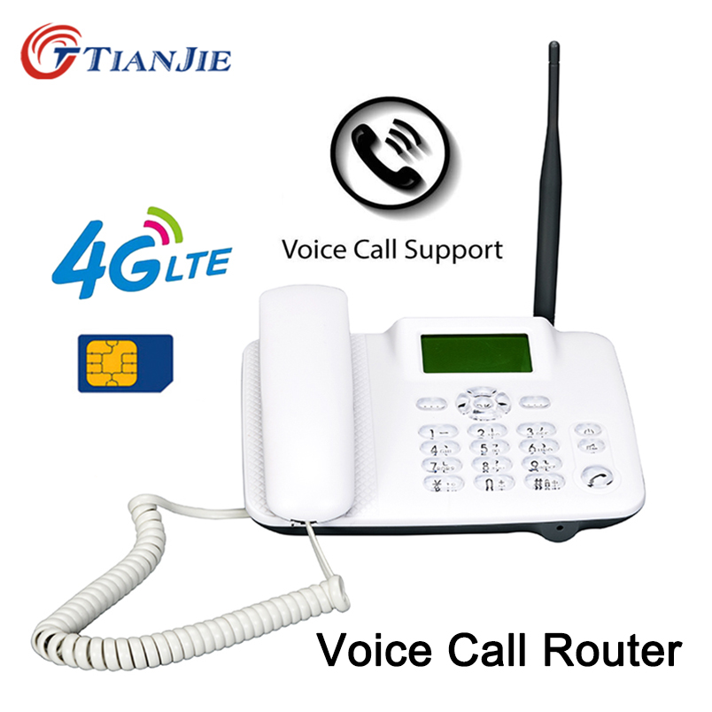 TianJie <font><b>4G</b></font> 3G <font><b>GSM</b></font> Voice Call VoLTE Router Wireless Fixed Telephone Landline Router Mobile Hotspot Wifi <font><b>Modem</b></font> With LAN Port image