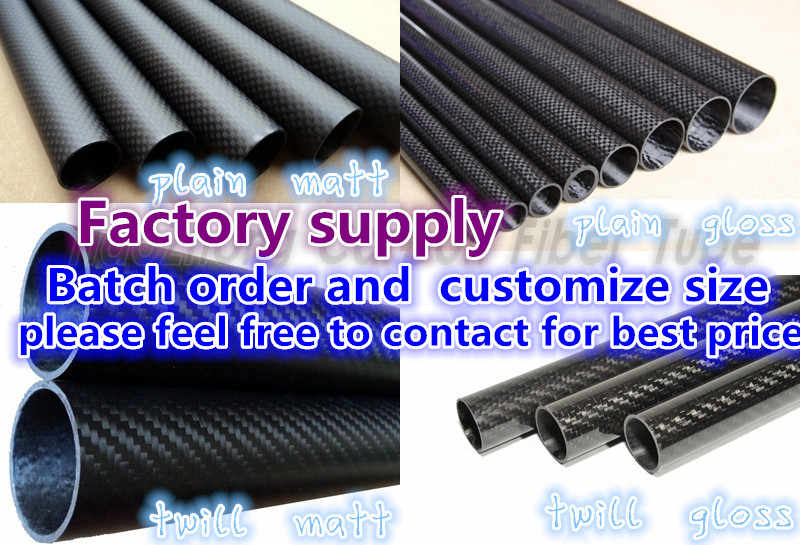 US WHABEST 1Pcs Carbon Fiber Tube 3k High Gloss 16mm OD x 14mm ID X 1000MM Long Roll Wrapped //Tubing//Pipe//Shaft