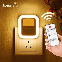 PIR Magnetic Infrared Motion Sensor LED Night Light Remote Control Night Lamp Adjustable Brightness Wall Lamp for Home Bedroom