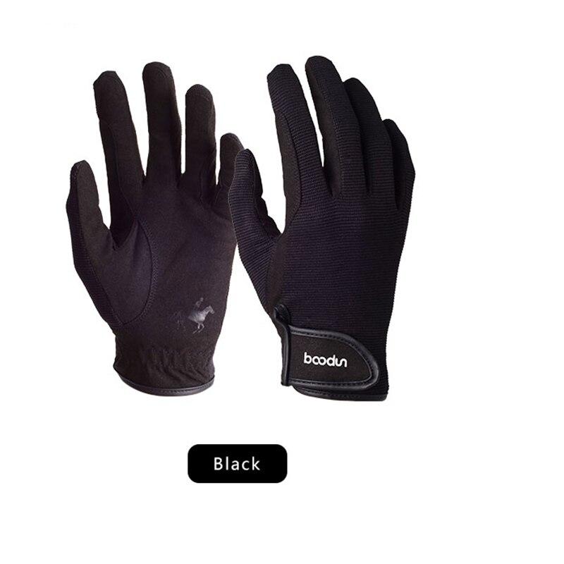 Перчатки для верховой езды Дышащие Регулируемые конные аксессуары для езды против скольжения прочные спортивные черные конные аксессуары для рук