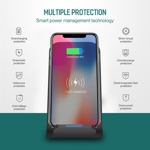 Image 5 - DCAE 15W Qi Drahtlose Ladestation für iPhone 11 Pro X XS 8 XR Samsung S9 S10 S8 USB C Schnelle Ladestation Telefon Schnell Ladung