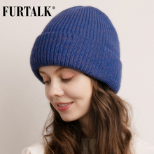 FURTALK Beanie Winter Hat for Women Knitted Slouchy Beanie Men Skullies Ladies Warm Hats Soft Female Korean Winter Cap 2019