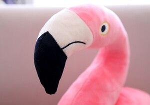 Image 3 - חמוד רך פלמינגו סימולציה ציפור בפלאש צעצוע הילדה יום הולדת מתנת עיצוב הבית
