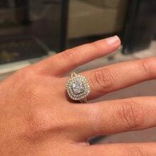 Lismo venda quente nova micro-incrustada zircon boutique luxo all-match noivado senhoras anel de jóias de moda