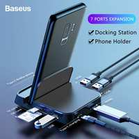 Baseus 15W USB Type C HUB Dock Station For Samsung S10 for Dex Pad Station USB to HDMI Dock Power Adapter For Huawei P30 P20 Pro