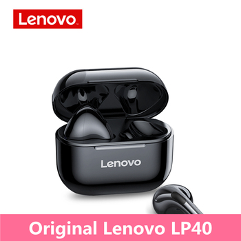 TWS słuchawki Bluetooth słuchawki bezprzewodowe podwójne słuchawki Stereo z redukcją szumów sportowe słuchawki douszne oryginalne Lenovo LP40 tanie i dobre opinie Dynamiczny CN (pochodzenie) Prawdziwie bezprzewodowe 90dB 400mW Do gier wideo Zwykłe słuchawki do telefonu komórkowego