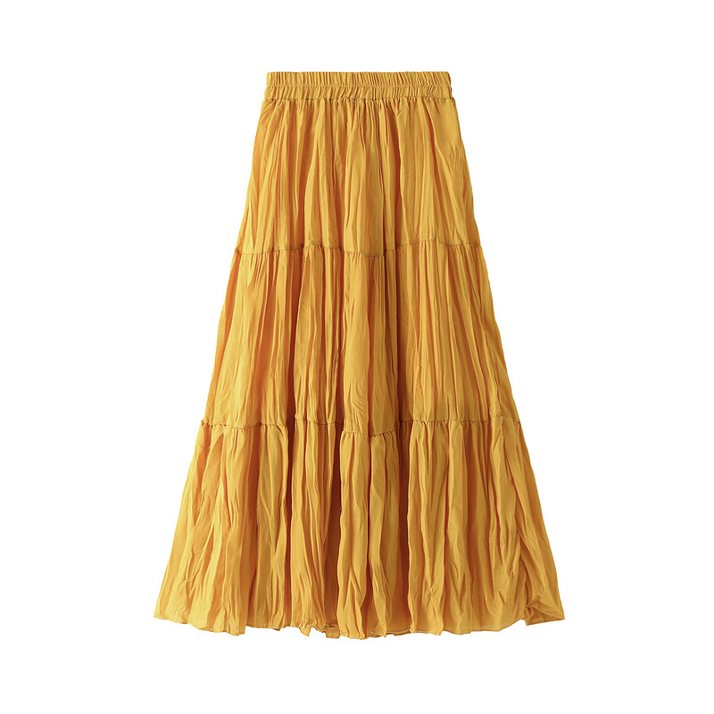 WOMEN'S Skirt Loose And Plus-size Joint Skirt 2020 Spring  Mid-length Solid Long Skirts