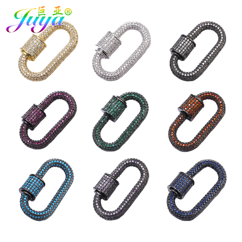 Juya DIY Jewelry Clasps Supplies Handmade Fastener Lobster Screw Clasps Accessories For Luxury Needlework Beading Jewelry Making