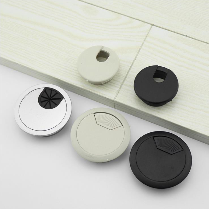 1Pcs Desk Wire Hole Cover Base Computer Grommet Table Cable Outlet Port Surface Line Box Furniture Hardwar