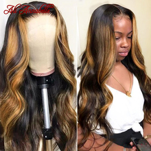 Wig Highlight-Wigs Body-Wave Lace-Front Honey Blonde Ali Annabelle 180-Density Brazilian