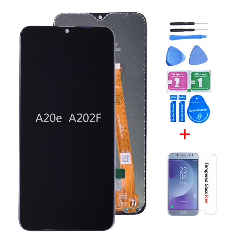 Original For <font><b>Samsung</b></font> <font><b>Galaxy</b></font> <font><b>A20e</b></font> <font><b>LCD</b></font> Display Touch <font><b>Screen</b></font> Digitizer Assembly A202 A202F Replace For <font><b>SAMSUNG</b></font> <font><b>A20e</b></font> <font><b>LCD</b></font> <font><b>Screen</b></font> image