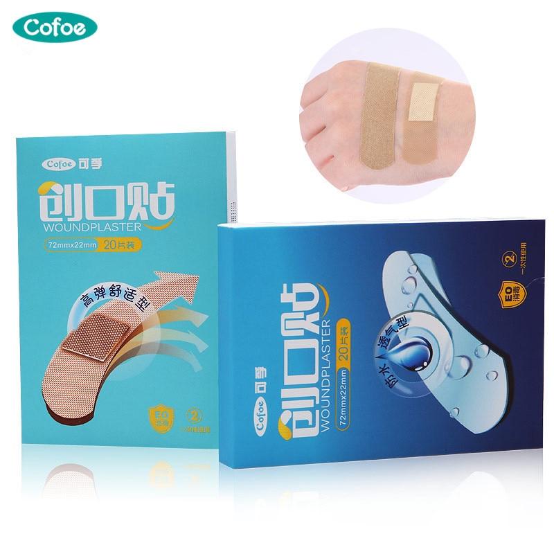 Cofoe 100pcs Band Aid medical Anti-Bacteria Band-Aids Breathable Hemostatic Adhesive Bandages Waterproof First Aid Emergency Kit(China)