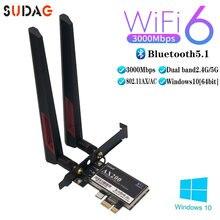 3000 Мбит/с AX200 802.11AX Wifi 6 PCI-e карта Bluetooth 5,1 ная Wifi6 PCI Express антенна Wifi 5G адаптер AX200N