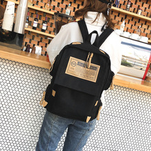 MYT_0234 Brand Canvas Backpack Women School Bags for teenager girls boys Shoulder Bag Casual solid backpack school Mochila