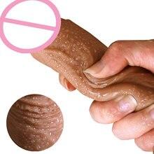 7/8 Polegada enorme realista vibrador de silicone pênis dong com ventosa para masturbação lesbain sexo brinquedo