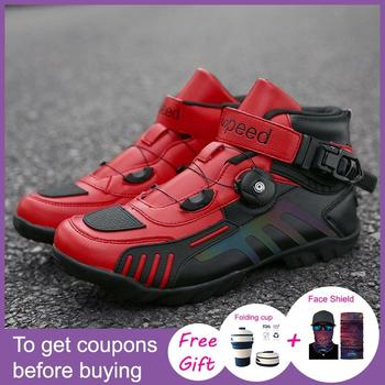 2020 New Racing shoes Non-Locking Sport Shoes Cycling Shoes Cycling Shoes High Top DC Shoes Motorcycle shoes