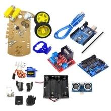 Умный робот автомобильный комплект включает Uno R3, ультразвуковой датчик, модуль Bluetooth для Arduino с обучающим руководством