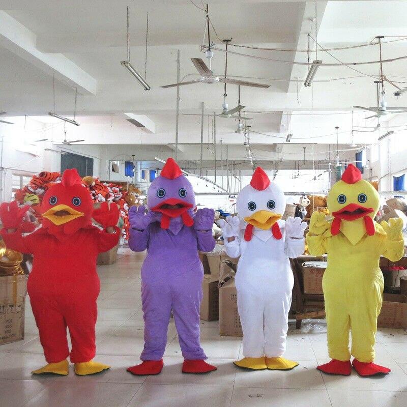 4 couleurs fantaisie poulet mascotte Costume costumes Cosplay partie jeu robe tenues vêtements Promotion carnaval Halloween adultes