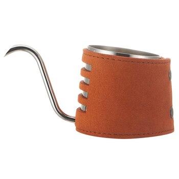 New-200ML ручной капельный чайник из нержавеющей стали с намоткой из синтетической кожи и суженным носиком