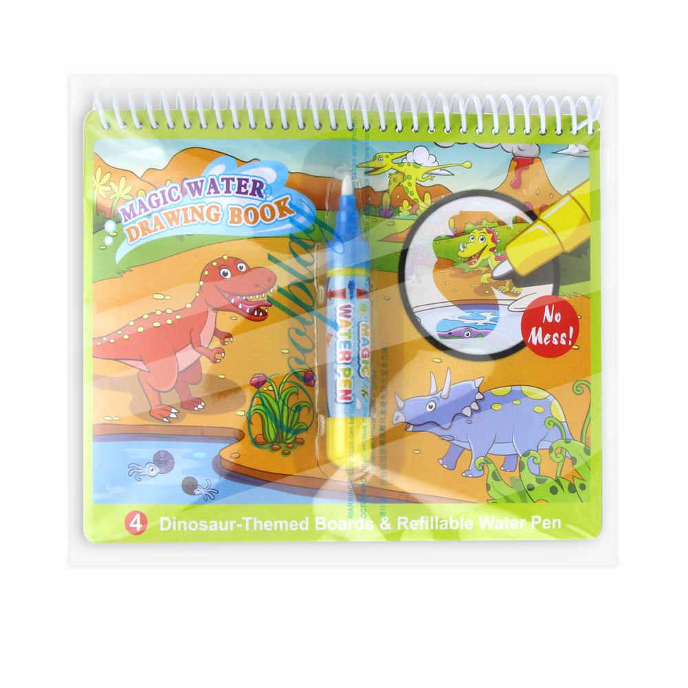 Hot Sihir Air Menggambar Buku Buku Mewarnai Doodle & Dapat Digunakan Kembali Belajar Awal Puzzle Air Lukisan Grafiti untuk Anak-anak Mainan Hadiah