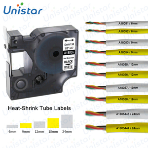 18055 Compatible Dymo Rhino ndustrial Heat Shrink Tubes for LabelWriter and Industrial Label Maker 18051 18052 18053 18056 18057(China)