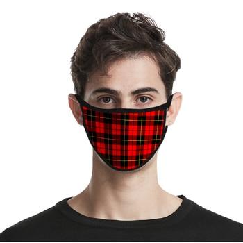 Fashion Design Lattice Mask Men/women Washable Hot Casual 3D Print Funny Cosplay Harajuku Face New Hip Hop - discount item  40% OFF Mask