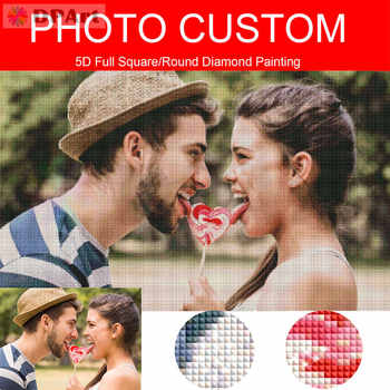 Diamond Painting Photo Custom Customization Private Custom 5D Full Square/Round Drill Pic Daimond Painting Cross Stitch H001 - DISCOUNT ITEM  23 OFF Home & Garden