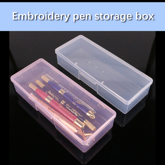1pc Tattoo Blade needle Storage Box Manual Embroidery Microblading Pen Rectangle Organizer Display Container