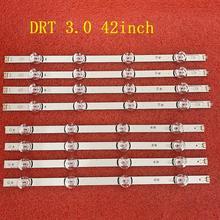 8pcs Retroiluminação LED Tiras para LG 42LB 42LB5800 42LB5700 42LF5610 42LF580V 42LB585V 42LB580V 42LB5800 42LY310CA 42LB563V 42LB561V