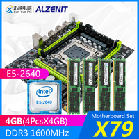 ALZENIT X79 Motherboard Set X79M-CE5 M.2 MATX With Intel Xeon E5-2640 2.5GHz CPU 4*4GB (16GB) DDR3 1600MHz ECC/REG RAM