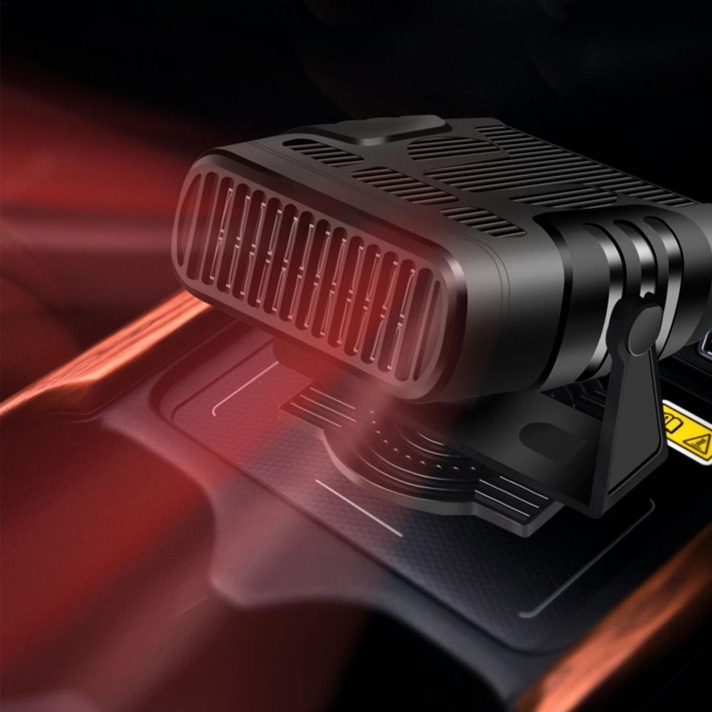 12V/24V Portable Powerful Car Heater 360 Degree Rotation Car Defroster 4 IN 1 Dryer Windshield Defogging Demister Defroster